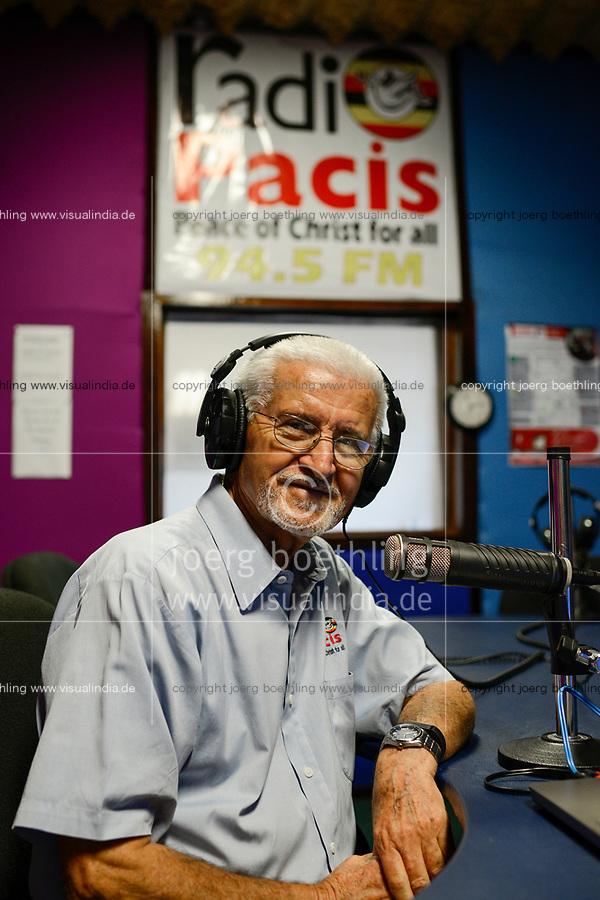 UGANDA, Arua, Radio Pacis, Direktor Comboni Missionar Tonino Pasolini