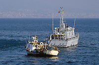 - Financial police, a &quot;Bigliani&quot; class patrol boat controls a fishing vessel<br /> <br /> - Guardia di Finanza, motovedetta classe &quot;Bigliani&quot; controlla un peschereccio