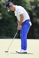 Yuta Ikeda (JPN) putts on the 13th green during Thursday's Round 1 of the 2017 PGA Championship held at Quail Hollow Golf Club, Charlotte, North Carolina, USA. 10th August 2017.<br /> Picture: Eoin Clarke | Golffile<br /> <br /> <br /> All photos usage must carry mandatory copyright credit (&copy; Golffile | Eoin Clarke)