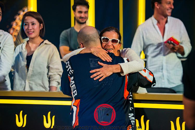Bryn Kenney gets a hug