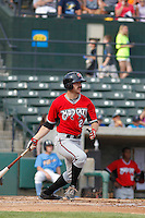 Carolina Mudcats catcher Sal Giardina (24) at bat during game one of a doubleheader against the Myrtle Beach Pelicans at Ticketreturn.com Field at Pelicans Ballpark on June 6, 2015 in Myrtle Beach, South Carolina. Carolina defeated Myrtle Beach 1-0. (Robert Gurganus/Four Seam Images)
