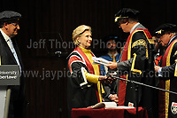 Swansea University, South Wales, UK, Saturday 14th Oct 2017 - <br /> <br /> Hillary Rodham Clinton was today in attendance at Swansea University, where she received an Honorary Doctorate of Laws.<br /> <br /> <br /> Jeff Thomas Photography -  www.jaypics.photoshelter.com - <br /> e-mail swansea1001@hotmail.co.uk -<br /> Mob: 07837 386244 -