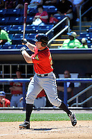 State College Spikes catcher Matthew Skirving #34 during a game against the Staten Island Yankees at Richmond County Bank Ballpark at St. George on July 14, 2011 in Staten Island, NY.  Staten Island defeated State College 6-4.  Tomasso DeRosa/Four Seam Images