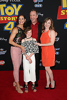 "11 June 2019 - Hollywood, California - Jane Hajduk, Elizabeth Allen Dick, Tim Allen, Katherine Allen. Premiere Of Disney And Pixar's ""Toy Story 4""  held at El Capitan theatre. Photo Credit: Faye Sadou/AdMedia"