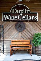 Duplin Winery visitor center and bistro courtyard.