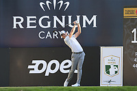 Danny Willett (ENG) tees off the 18th tee during Friday's Round 2 of the 2018 Turkish Airlines Open hosted by Regnum Carya Golf &amp; Spa Resort, Antalya, Turkey. 2nd November 2018.<br /> Picture: Eoin Clarke | Golffile<br /> <br /> <br /> All photos usage must carry mandatory copyright credit (&copy; Golffile | Eoin Clarke)