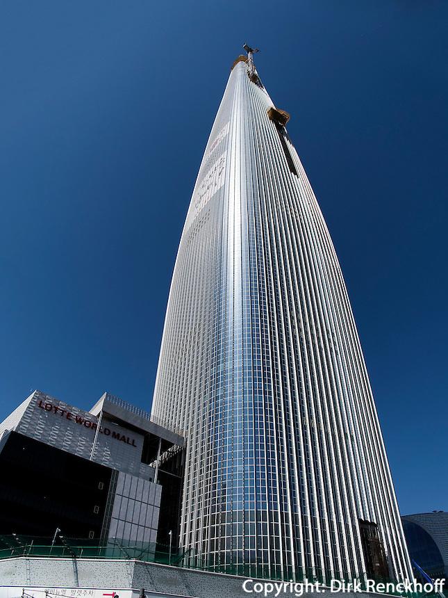 Lotte World Tower in Seoul, S&uuml;dkorea, Asien<br /> Lotte World Tower in Seoul, South Korea, Asia