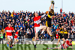 Billy O'Connor Dingle in action against Gavin White of Dr. Crokes during the Kerry County Senior Club Football Championship Final match between Dr Crokes and Dingle at Austin Stack Park in Tralee, Kerry on Sunday.