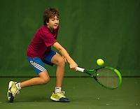 Almere, Netherlands, December 6, 2015, Winter Youth Circuit, Luka Novakovic (NED)<br /> Photo: Tennisimages/Henk Koster