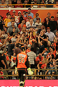 8th January 2018, The WACA, Perth, Australia; Australian Big Bash Cricket, Perth Scorchers versus Melbourne Renegades; Fans in the outer jostle into position to take a catch during the Renegades innings