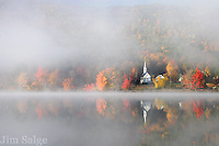 The After catching sunrise from a ridge above Eaton, NH, I raced down to the shores of Crystal Lake to wait for the fog to lift from the water. For an hour, I watched the mist dance across the pond, while listening to the call of loons in the distance. Slowly, the fog thinned, and a clear path to the church momentarily emerged!