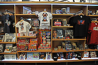 Barack Obama merchandise is seen on sale at the Newseum gift shop in Washington, DC on January 14, 2008.