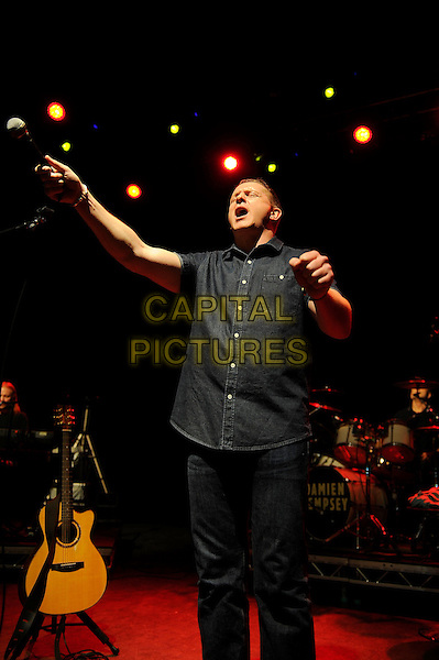 LONDON, ENGLAND - February 21: Damien Dempsey performs in concert at the o2 Shepherd's Bush Empire on February 21, 2014 in London, England<br /> CAP/MAR<br /> &copy; Martin Harris/Capital Pictures