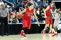 Washington, DC - MAR 10, 2018: Davidson Wildcats guard Kellan Grady (31) handles the ball during semi final match up of the Atlantic 10 men's basketball championship between Davidson and St. Bonaventure at the Capital One Arena in Washington, DC. (Photo by Phil Peters/Media Images International)
