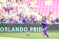 Orlando, FL - Sunday May 14, 2017: Marta during a regular season National Women's Soccer League (NWSL) match between the Orlando Pride and the North Carolina Courage at Orlando City Stadium.