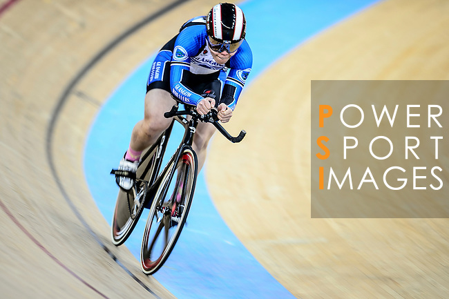 Jessica Lee of team IND during the Indiviual Pursuit Women Qualifying (2 KM) Track Cycling Race 2016-17 Series 3 at the Hong Kong Velodrome on February 4, 2017 in Hong Kong, China. Photo by Marcio Rodrigo Machado / Power Sport Images