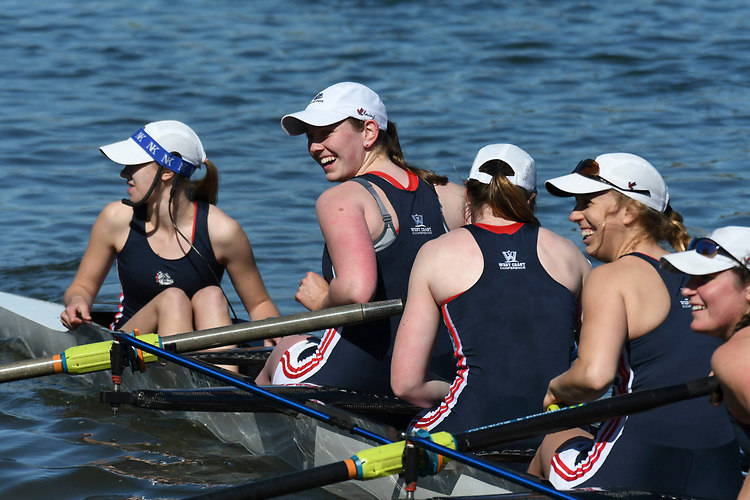 May 13, 2017; Gold River, CA, USA; II Eight Gonzaga Bulldogs during the WCC Rowing Championships at Lake Natoma.