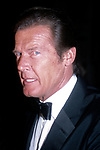 Roger Moore attending Friars Club Roast at the Waldorf Astoria Hotel, New York City on May 1, 1983.