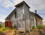 An Old Town outhouse....no longer in use.