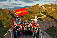 Business group outing on The Great Wall of China, Jinshanling, China