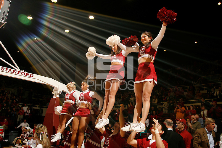 16 February 2006: Cheerleaders during Stanford's 82-69 win over the Arizona State Sun Devils at Maples Pavilion in Stanford, CA.