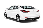 Car pictures of rear three quarter view of a 2015 Hyundai Elantra Sport 4 Door Sedan Angular Rear