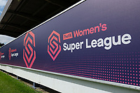 New signage for the new season ahead of Chelsea Women vs Manchester City Women, FA Women's Super League FA WSL1 Football at Kingsmeadow on 9th September 2018