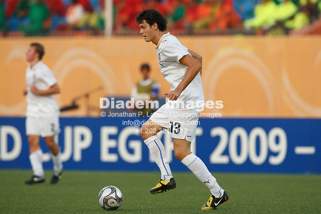 CAIRO - OCTOBER 5:  Francesco Bini of Italy in action during a FIFA U-20 World Cup round of 16 match against Spain October 5, 2009 at Al Salam stadium in Cairo, Egypt.  (Photograph by Jonathan P. Larsen)