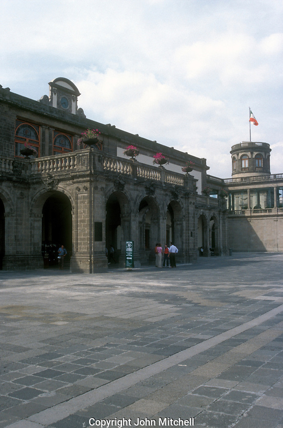 Chapultepec Castle or Castillo de Chapulptpec in Mexico City. This historical building houses the National Museum of History.