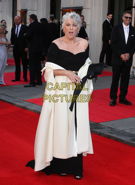 Tyne Daly.The Olivier Awards held at the Royal Opera House, Covent Garden, London, England..April 15th 2012.full length dress black white jacket coat mouth open looks angry upset.CAP/ROS.©Steve Ross/Capital Pictures