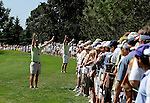 01 August 2008: Marshalls quite the large crowd on the 4th fairway during the 2nd round of the 2008 US Senior Open Championship at The Broadmoor, Colorado Springs, CO.