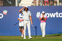 Tommy Fleetwood (ENG) on the 18th green during the final round of the DP World Tour Championship, Jumeirah Golf Estates, Dubai, United Arab Emirates. 24/11/2019<br /> Picture: Golffile | Fran Caffrey<br /> <br /> <br /> All photo usage must carry mandatory copyright credit (© Golffile | Fran Caffrey)