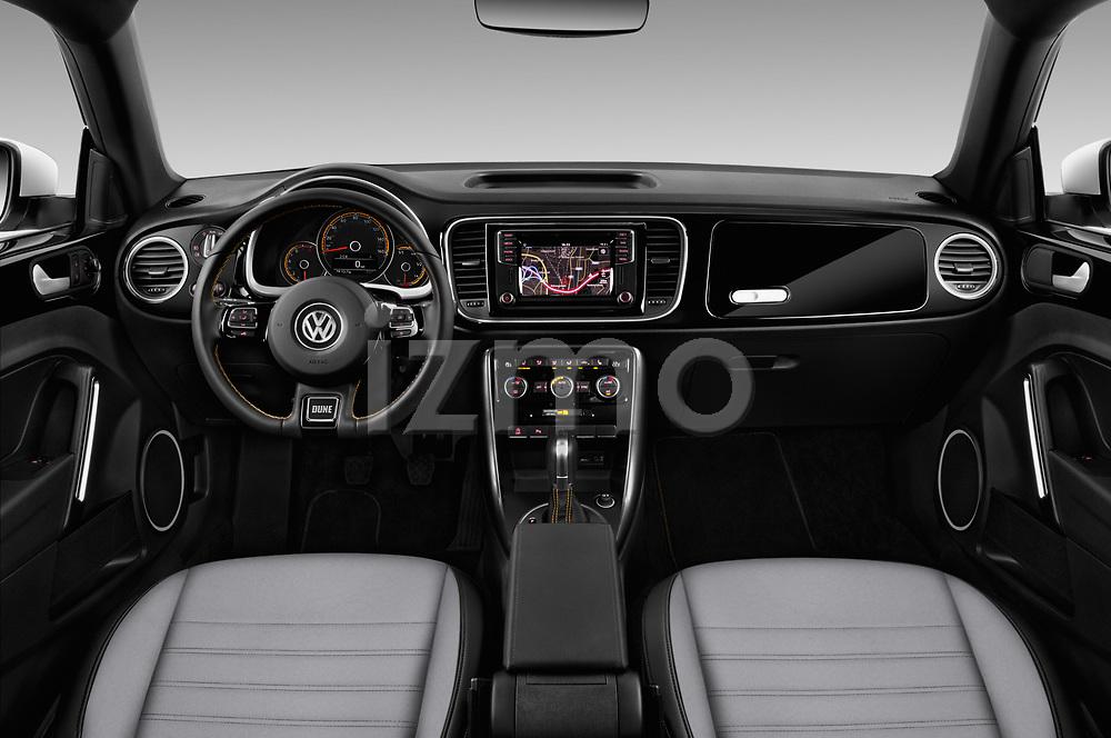 Stock photo of straight dashboard view of 2017 Volkswagen Beetle Dune 3 Door Hatchback