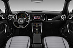 Stock photo of straight dashboard view of 2017 Volkswagen Beetle Dune 3 Door Hatchback