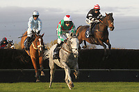 Race winner Elenika ridden by Ruby Walsh (C) in jumping action during the Tom Jones Memorial HTJ Centre Ltd