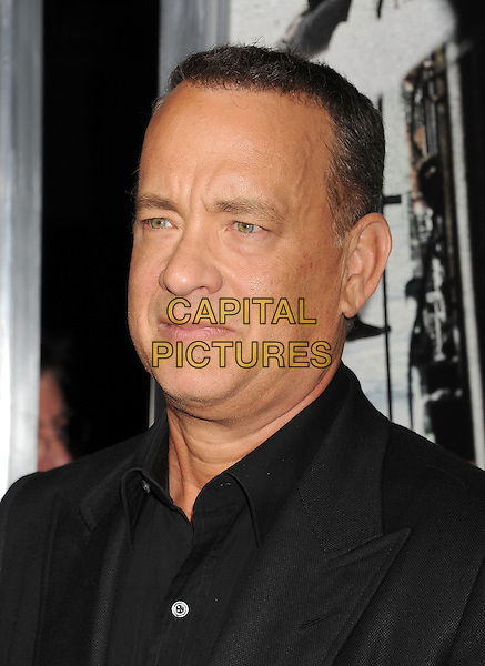 Tom Hanks<br /> Premiere of &quot;Captain Phillips&quot; held at the Academy of Motion Picture Arts and Sciences, Beverly Hills, California, USA.<br /> September 30th, 2013<br /> headshot portrait black suit shirt jacket <br /> CAP/ROT/TM<br /> &copy;Tony Michaels/Roth Stock/Capital Pictures