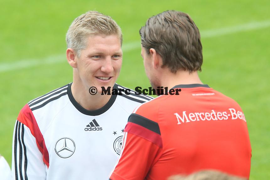 Bastian Schweinsteiger und Roman Weidenfeller - Trainingslager der Deutschen Nationalmannschaft zur WM-Vorbereitung in St. Martin