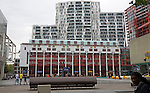 Modern apartment blocks of the Calypso development from the Schouwburgplein, Rotterdam, Netherlands