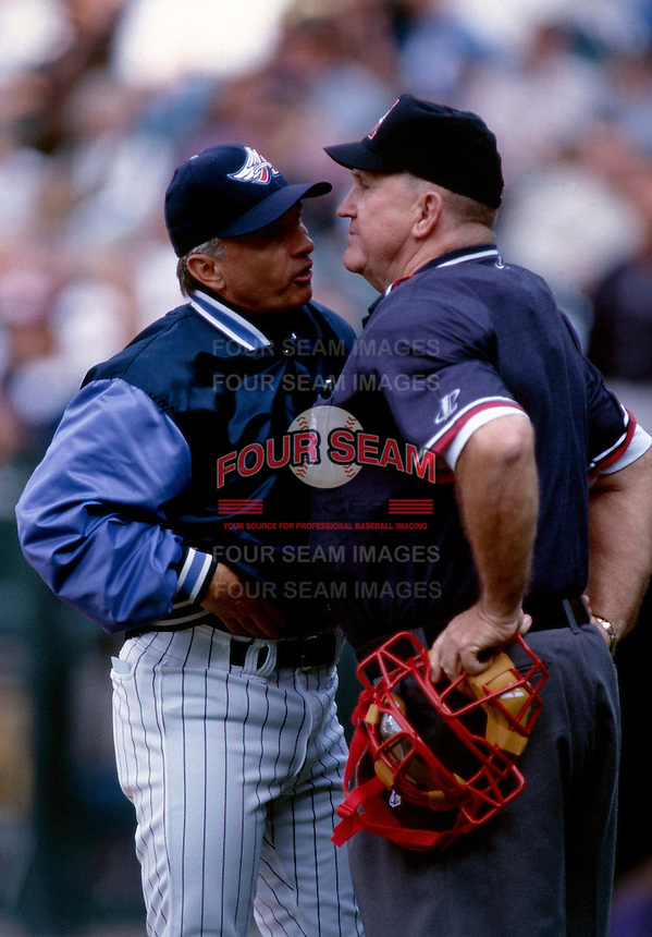 Anaheim Angels Manager Terry Collins during a baseball game at Edison International Field during the 1998 season in Anaheim, California. (Larry Goren/Four Seam Images)
