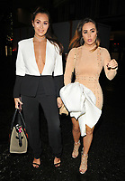 Chloe Goodman and Lauryn Goodman at the LFW s/s 2018 Vin + Omi catwalk show &amp; afterparty, Andaz Liverpool Street Hotel, Liverpool Street, London, England, UK, on Monday 11 September 2017.<br /> CAP/CAN<br /> &copy;CAN/Capital Pictures