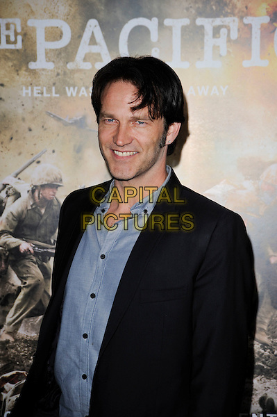 "STEPHEN MOYER.The Los Angeles premiere of HBO's new miniseries event ""The Pacific"" at Grauman's Chinese Theatre in Hollywood, California.  .February 24th, 2010.half length suit jacket shirt black blue grey gray stubble facial hair.CAP/ROT.©Lee Roth/Capital Pictures"