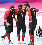 Lima, Peru - 31/August/2019 - Canada competes for the bronze medal in men's goalball at the Parapan Am Games in Lima, Peru. Photo: Scott Grant/Canadian Paralympic Committee.