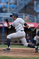 Staten Island Yankees outfielder Issaiah Brown during a game vs. the Jamestown Jammers at Russell Diethrick Park in Jamestown Jammers, New York July 15, 2010.   Jamestown defeated Staten Island 5-1.  Photo By Mike Janes/Four Seam Images
