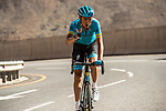 Zhandos Bizhigitov (KAZ) Astana Pro Team climbs towards the finish of Stage 5 of the 10th Tour of Oman 2019, running 152km from Samayil to Jabal Al Akhdhar (Green Mountain), Oman. 20th February 2019.<br /> Picture: ASO/K&aring;re Dehlie Thorstad | Cyclefile<br /> All photos usage must carry mandatory copyright credit (&copy; Cyclefile | ASO/K&aring;re Dehlie Thorstad)