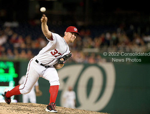 Washington Nationals pitcher Stephen Strasburg (37) works in the seventh inning against the Colorado Rockies at Nationals Park in Washington, D.C. on Tuesday, July 1, 2014.<br /> Credit: Ron Sachs / CNP