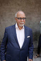 June 2012   File Photo - Montreal, Quebec, CANADA   Rene Angelil pose for photographers with the cast of OMERTA.<br /> <br /> -Based on a widely-acclaimed TV series by Luc Dionne himself, Omerta-The Movie is centered around the character of Pierre Gauthier, a cop specialized in organized crime.