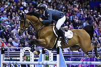 OMAHA, NEBRASKA - APR 2: Sergio Alvarez Moya rides Arrayan during the Longines FEI World Cup Jumping Final at the CenturyLink Center on April 2, 2017 in Omaha, Nebraska. (Photo by Taylor Pence/Eclipse Sportswire/Getty Images)