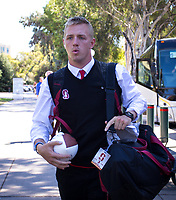 Stanford, CA - September 21, 2019: K.J. Costello at Stanford Stadium. The Stanford Cardinal fell to the Oregon Ducks 21-6.
