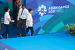 Masayo Imura (JPN), <br /> AUGUST 29, 2018 - Artistic Swimming : <br /> Women's Team Free Routine <br /> at Gelora Bung Karno Aquatic Center <br /> during the 2018 Jakarta Palembang Asian Games <br /> in Jakarta, Indonesia. <br /> (Photo by Naoki Morita/AFLO SPORT)