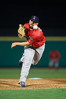 Pawtucket Red Sox relief pitcher Robby Scott (36) delivers a pitch during a game against the Rochester Red Wings on May 19, 2018 at Frontier Field in Rochester, New York.  Rochester defeated Pawtucket 2-1.  (Mike Janes/Four Seam Images)